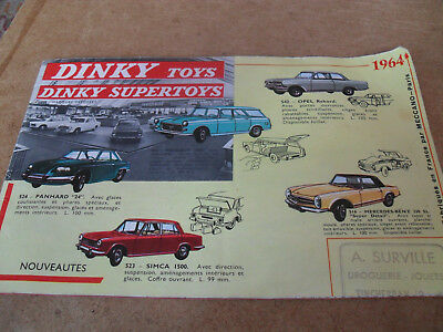 French Dinky Toy Catalogue 1964 Edition Near Excellent Condition For Age