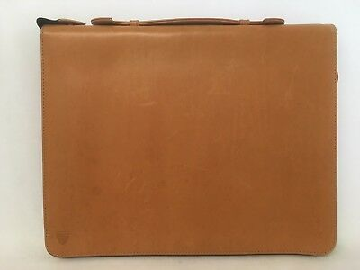 Aspinal of London Leather A4 Conference Portfolio in Smooth Tan.
