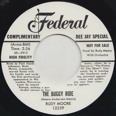 ** Rudy Moore  Buggy Ride  Ring A-Ling Dong  Great Rockin R&b Double Header!