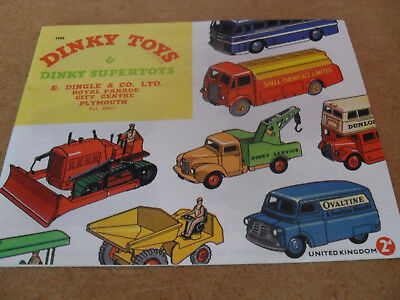 Reproduction Dinky Toy Catalogue 1955 Uk Edition Near Mint Condition For Age