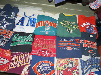 Lot Of 21 Nfl Sweatshirts Packers Chiefs Cowboys Rams Bears Rams Adult Sizes