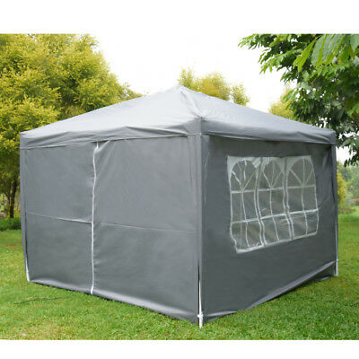 3x3m Waterproof Pop Up Gazebo Marquee Garden Awning Party Tent Canopy Outdoor