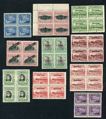 (OC490) Cost Rica MLH stamps block of 4