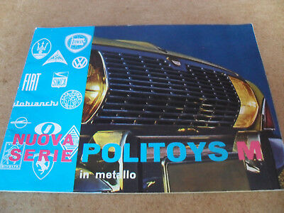 POLITOYS TOY CATALOGUE 1960's EDITION  EXCELLENT CONDITION FOR AGE