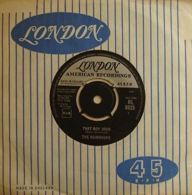 Raindrops, That Boy John / Hanky Panky, London, 7Inch 45Rpm