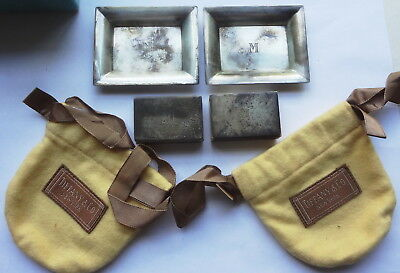 c1938 TIFFANY & CO. sterling silver MATCH BOX HOLDER & TRAY-EARLY BAG- LAST ONE!