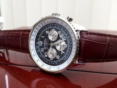 Rotary Men's Brown Leather strap Chronograph Watch /Waterproof Used (2)