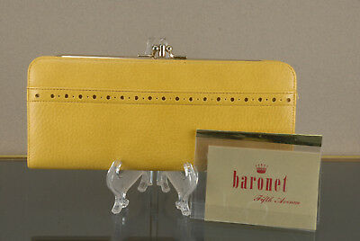 VINTAGE Baronet Fifth Avenue women's wallet coin purse clutch accessory NEW box