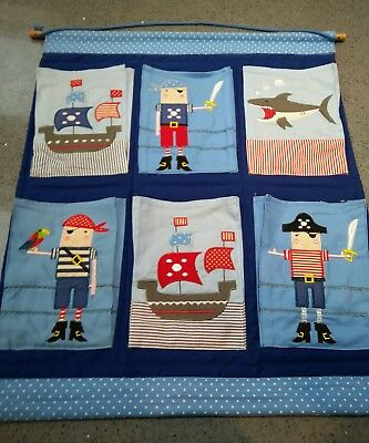 gisela graham pirate wall organiser hanging pockets