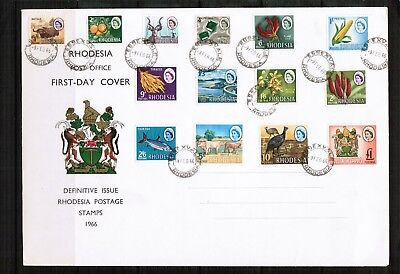 Southern Rhodesia 1966 Definitive set on Cover