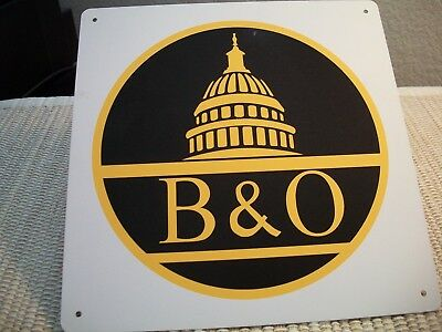 "Baltimore & Ohio 8"" Porcelain Wall Sign"