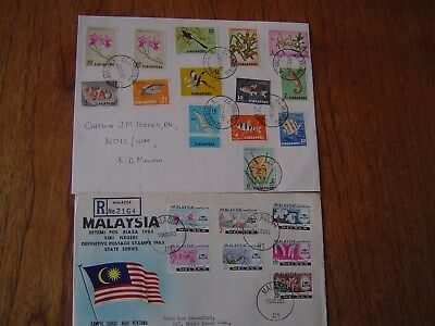 Singapore And Melaka Multi Stamped Covers