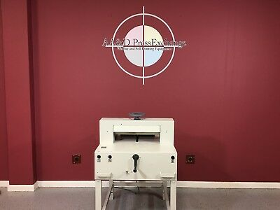 TRIUMPH SEMI AUTOMATIC PAPER CUTTER 4810 -  MBM / Ab Dick / ASK FOR VIDEO!!!! v