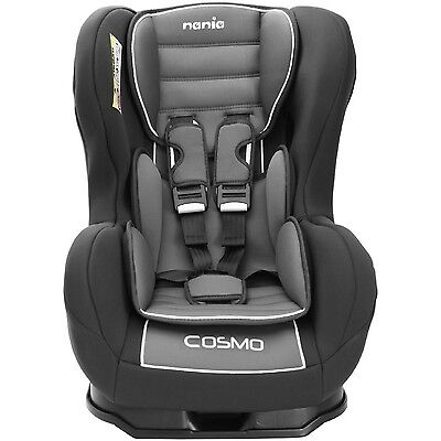 Nania Cosmo SP 0-4 YR Rear & Forward Facing Recliner Car Seat Agora Storm Grey