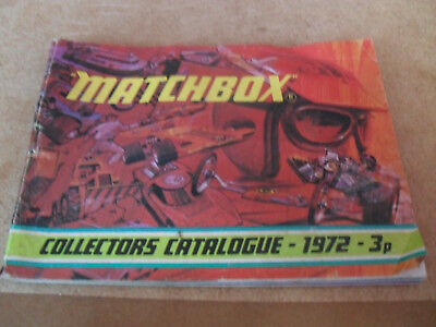Matchbox Toy Catalogue 1972 Uk Edition V Good Condition For Age