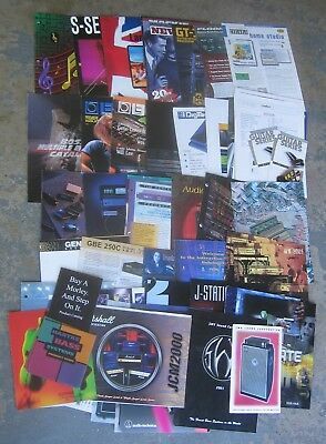 About 50 Old Amplifier, Guitar Effect, Microphone, Gear Catalogs from the 1990s