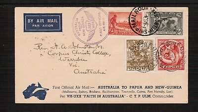 Australia to Papua 1st Flight Air Mail cover 1934