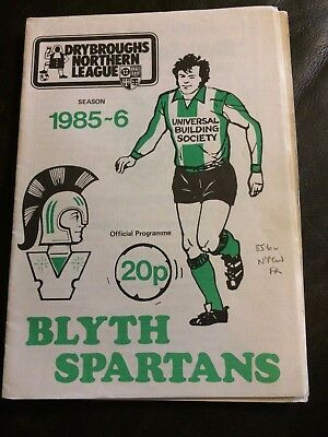BLYTH SPARTANS v NORTHAMPTON TOWN  1985-86 PRE-SEASON FRIENDLY