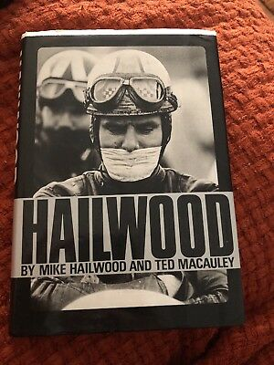 Mike Hailwood Signed book by Ted Macauley