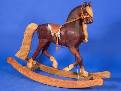 Contemporary Wooden Rocking Horse Ideal Christmas Gift Can Store For Christmas