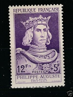 1955 n°1027 Philippe Auguste neuf SANS gomme (lot 343)