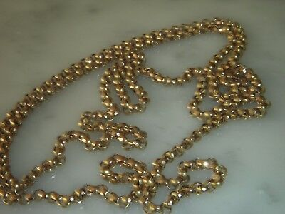 A Stunning Victorian 9 Ct Gold Fancy Link Chain