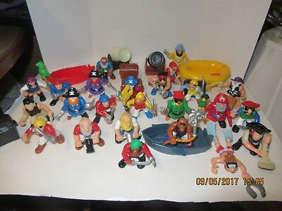 Vintage Fisher Price Lot of 34 pieces Imaginext Adventure Pirates and accessory