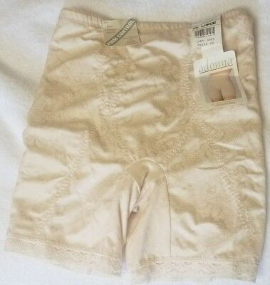 Adonna Women's Be Slim Long Leg Firm Control Girdle XXL 2XL Blush NWT