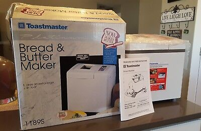 Toastmasters Platinum Bread And Butter Maker. 1189S New!