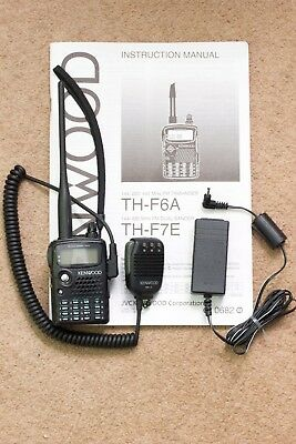 Kenwood TH-F7E Handheld Transceiver with SMC 33 Microphone