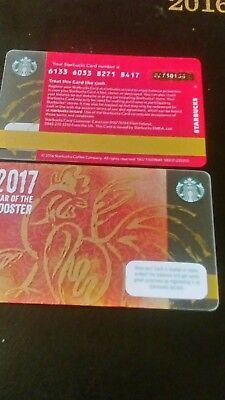ONE Ireland Star Bucks Card 2017  Year Of The Rooster.