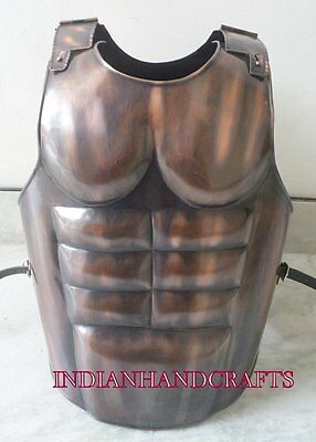 Roman Muscle Armour Jacket_Medieval Knight Spartan Halloween Crusader Costume