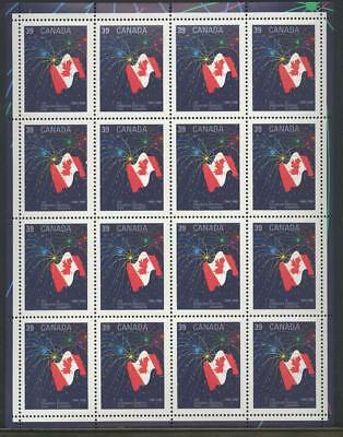 CANADA SHEET 1278fs 39c x 16 THE CANADIAN FLAG (1965-1990)  90% OF FACE