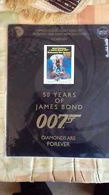 """James Bond """"diamonds Are Forever""""  9 Card Set Of Lobby Cards-New."""