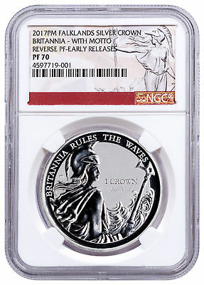 2017-PM FI Silver Britannia Rules Waves Silver Rev W/Motto NGC PF70 ER SKU49184