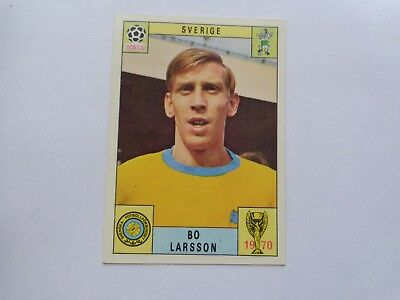 Panini WM 1970 World Cup Mexico 70,Original card Bo Larsson Sweden RED Back