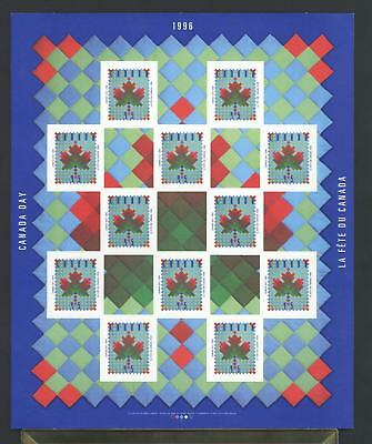 CANADA SHEET 1607a 45c x 12 CANADA DAY - MAPLE LEAF QUILT 90% OF FACE