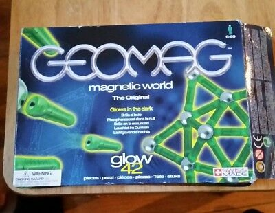 Geomag Magnetic World ~ 42 pieces ~ Boxed ..Glows In The Dark  ..Swiss Made