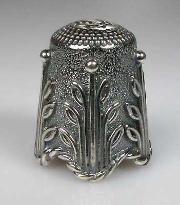 thimble sterling silver floral design Thorvald Greif new