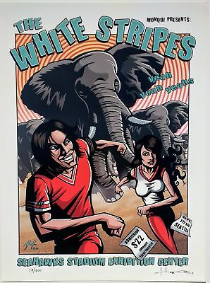 The White Stripes Poster w/ Yeah Yeah Yeahs 2003 Concert