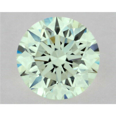 Rare 0.82 ct 6.20 mm VVS2 Fancy Green Round Brilliant Cut Loose Moissanite