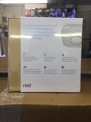 Nest Protect Wired Smoke + Carbon Monoxide Alarm 2nd Generation Home Fire Safe