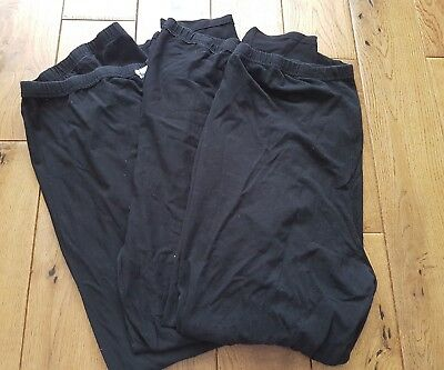 maternity leggings size 20. black two pairs