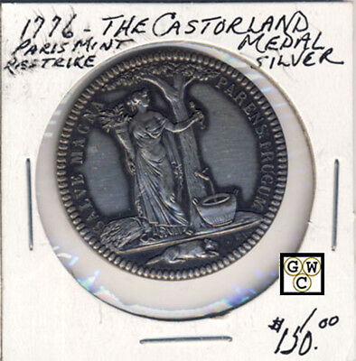 1776 The Castorland Medal Silver Paris Mint Restrike (OOAK)