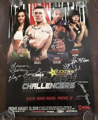 Strikeforce Challengers 10 Poster Autographed By Miesha Tate And More, UFC