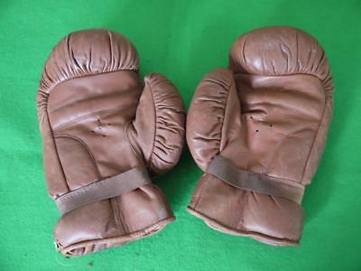 2 Pairs Of Rare Original Vintage Leather Ww2 Military Army Boxing Gloves