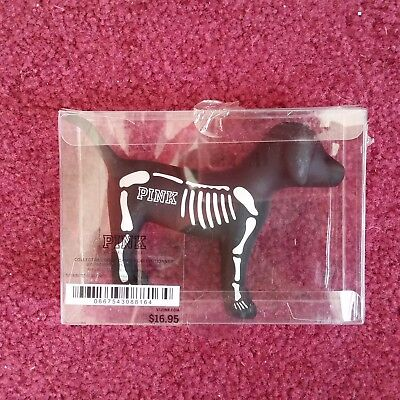 Halloween Victorias Secret Pink 2016 Limited Edition Mini Dog NIB Skeleton Black