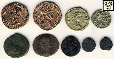 4 Copies of Ancient Coins & 5 Real Coins Including Widow's Mite (OOAK)