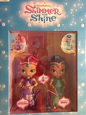 Rare Store Display Fisher-Price Nick Jr. Shimmer and Shine Wish & Spin Dolls