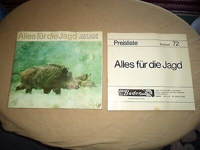 1972 AKAH Everything for the Hunter Catalog w/Price Sheet-All in German w/Pics